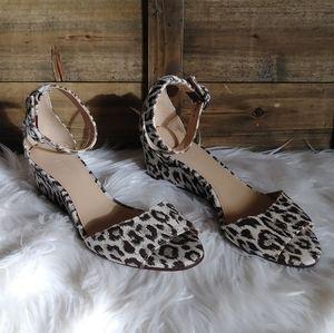 J. Crew Laila Cheetah Wedge Sandals